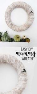 mummy wreath diy halloween decorations