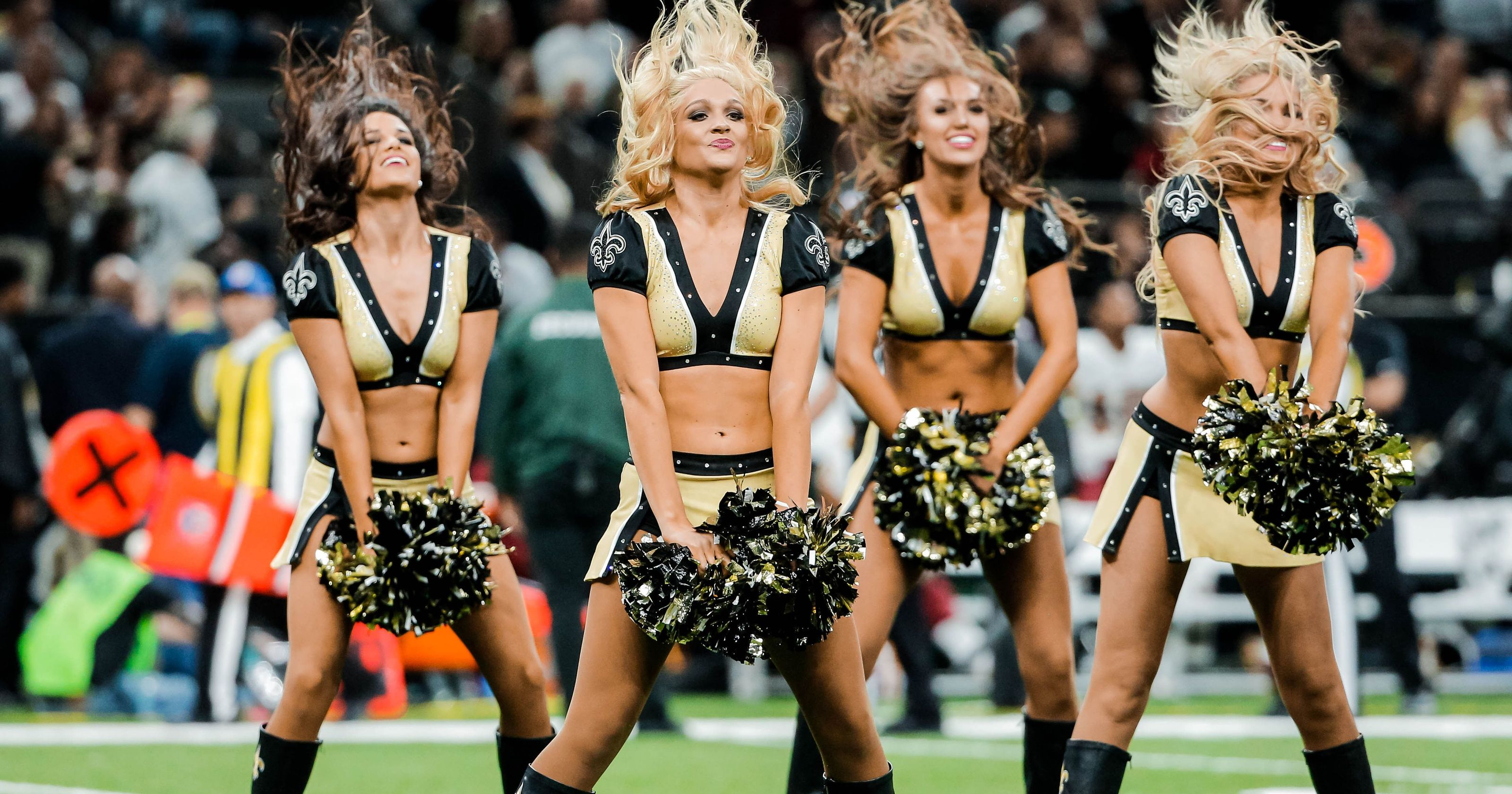 new orleans saints cheerleaders nfl cheerleader outfits
