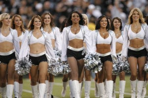 oakland raiderettes nfl cheerleader outfits