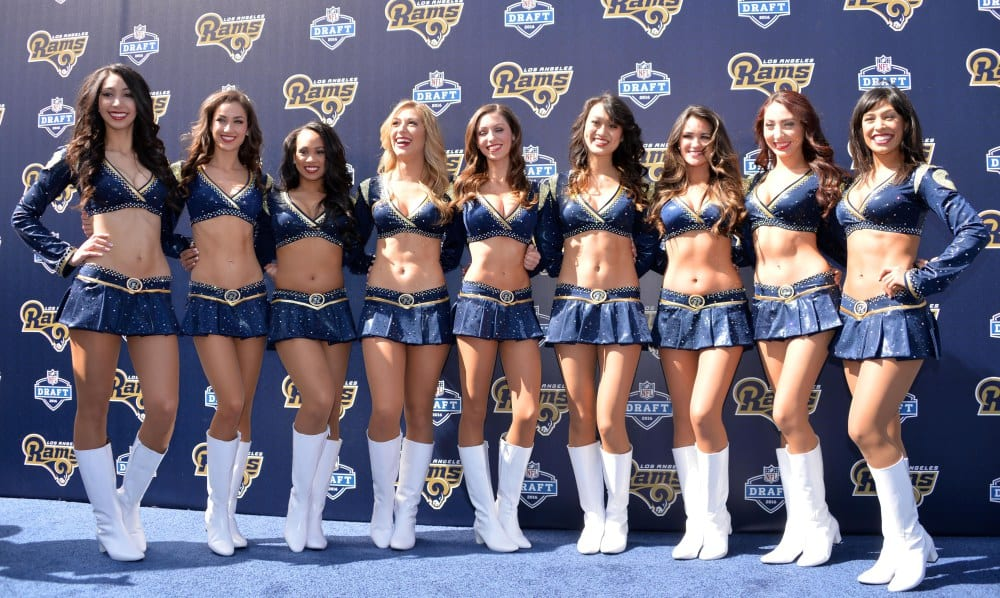 nfl cheerleader outfits Los Angeles Rams Cheerleaders