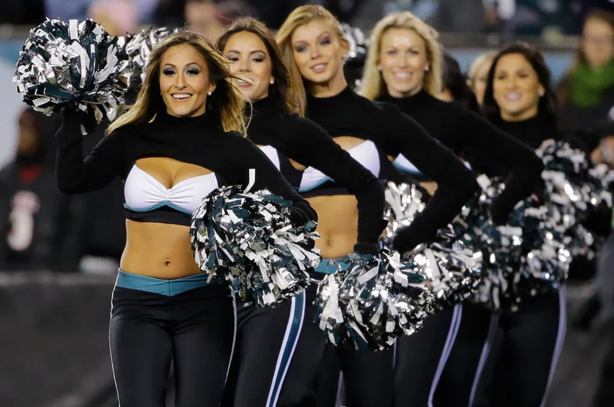 philadelphia eagles nfl cheerleader outfits