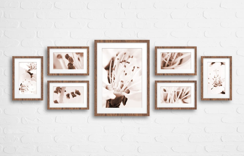 printed photo gifts wall display