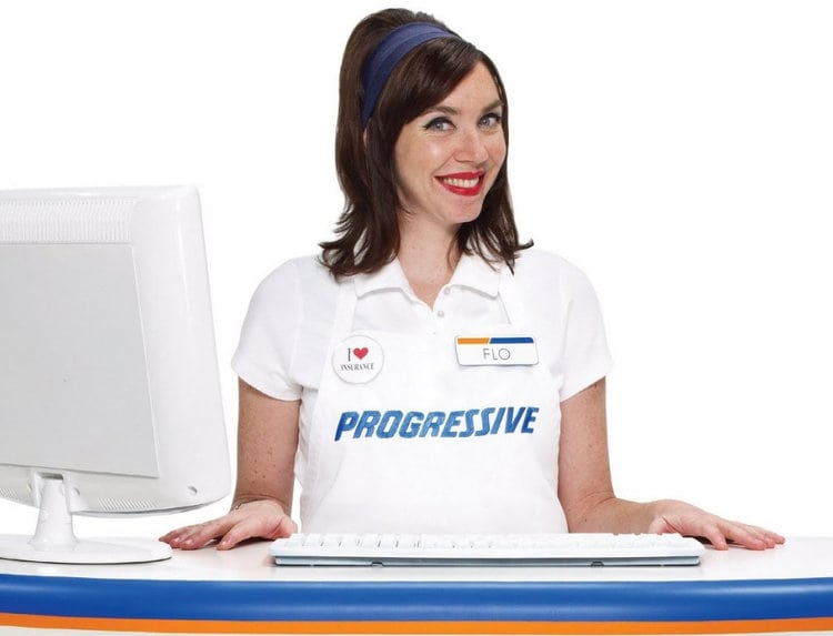 Progressive car insurance's spokeswoman, Flo