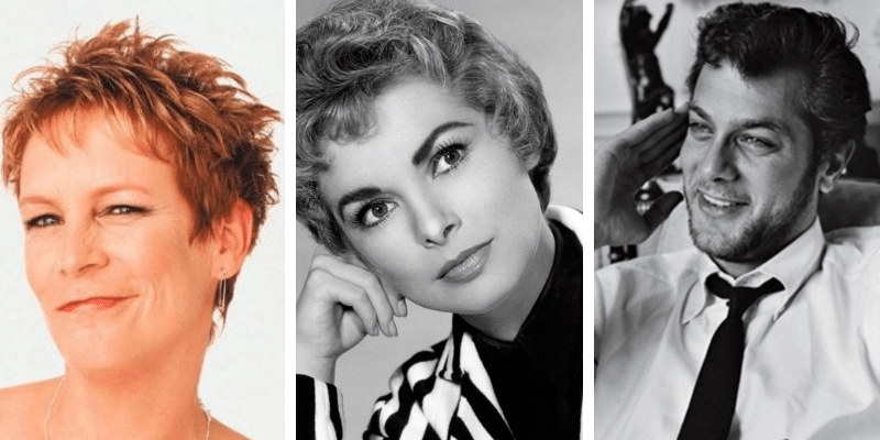 related celebrities jamie lee curtis, janet leigh, tony curtis