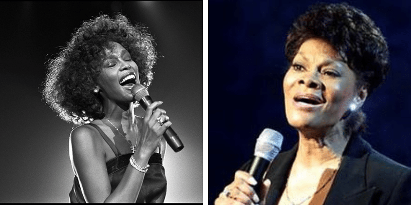 related celebrities whitney houston dionne warwick