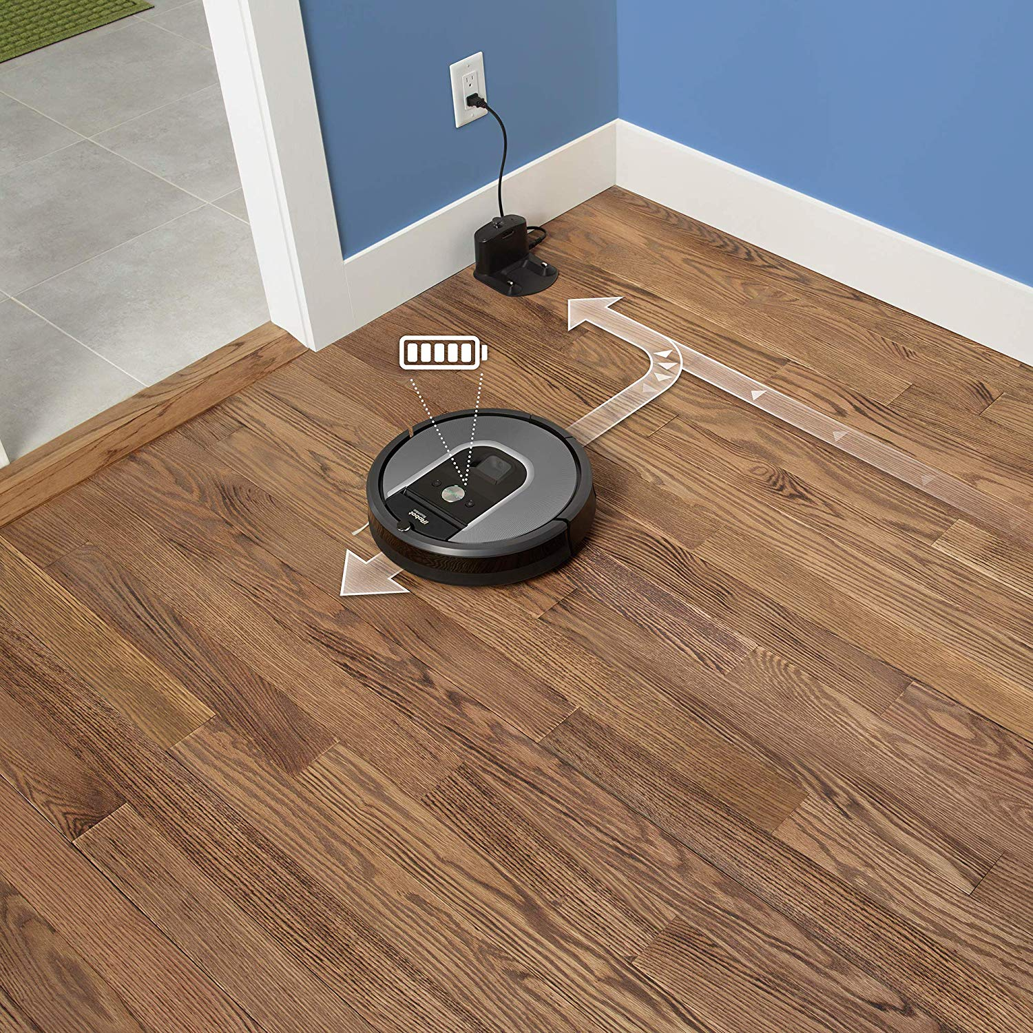 roomba going to charging platform