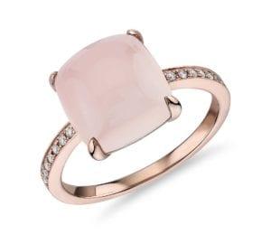 beautiful rose gold alternative egagement ring