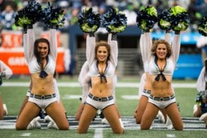seattle sea gals nfl cheerleader outfits