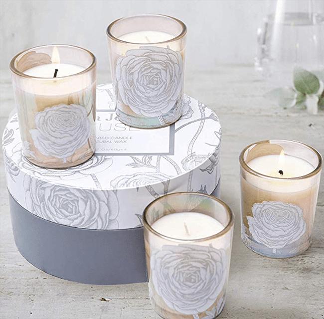 secret santa -la jolie muse scented candle gift set 4