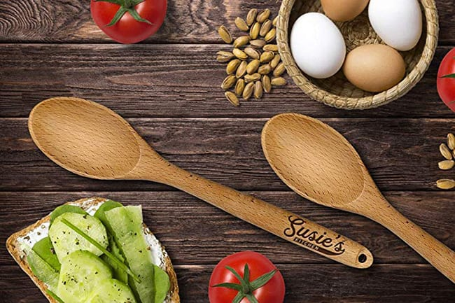 secret santa - personalized wooden spoon