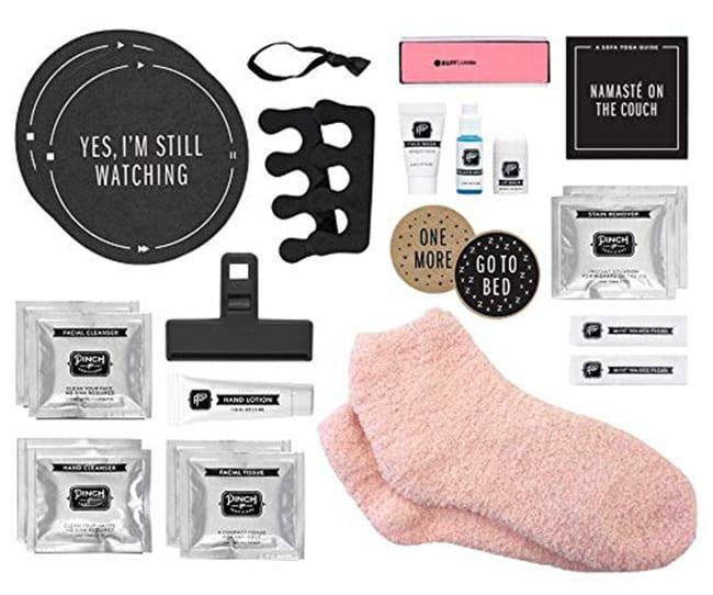 secret santa - pinch provisions binge-watching beauty kit