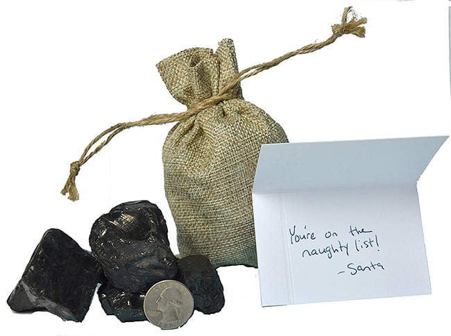 secret santa - real lump of coal