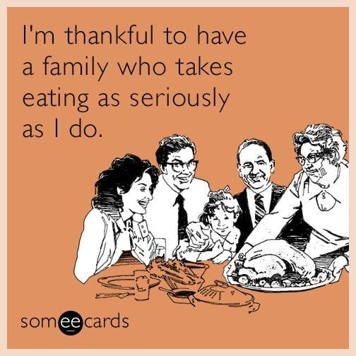 thanksgiving memes family eating