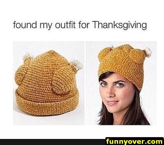 thanksgiving memes woman in turkey hat
