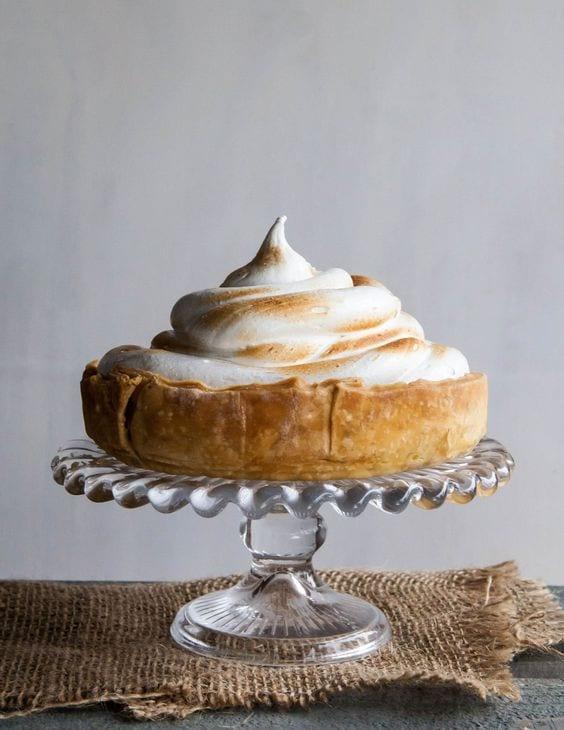 thanksgiving pie - deep-dish pumpkin meringue pie