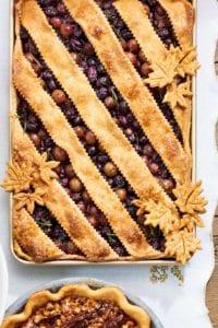 thanksgiving pie - grape slab pie