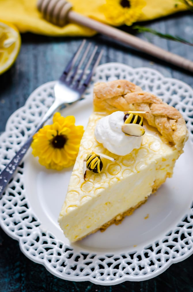 "thanksgiving pie-honey-lemon-chiffon-pie slice ""width ="" 670 ""height = ""1012"