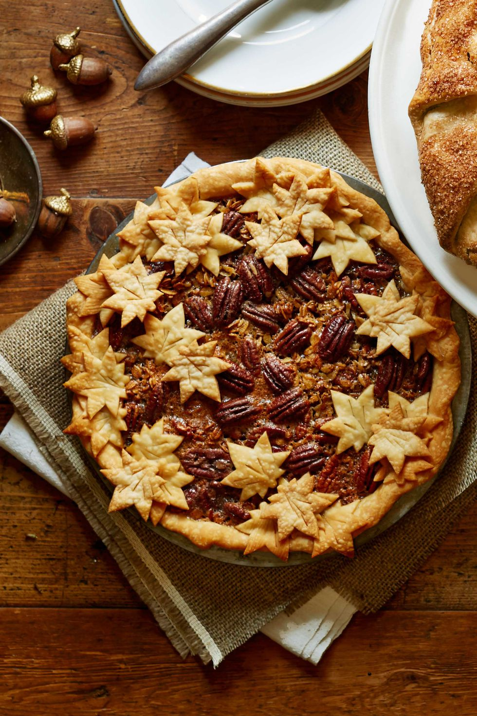"thanksgiving pie - maple granola pecan pie ""width ="" 980 ""height ="" 1470"