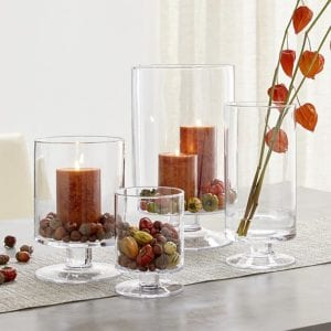 thanksgiving table decor candle holders
