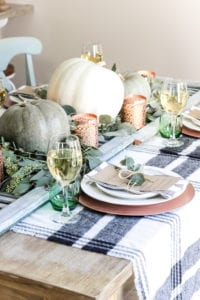 thanksgiving table decor copper