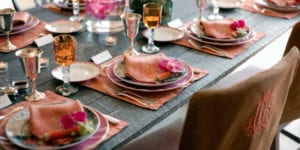 thanksgiving table decor pink