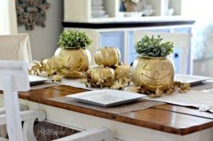 thanksgiving table decor pumpkin basket