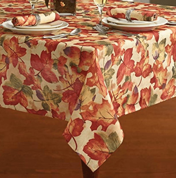 thanksgiving table decor tablecloth