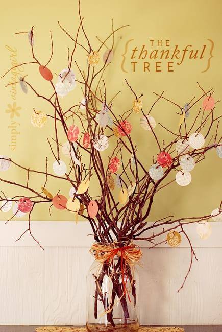 thanksgiving table decor thankful tree