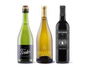 three bottles of winc wine in a wine gift set
