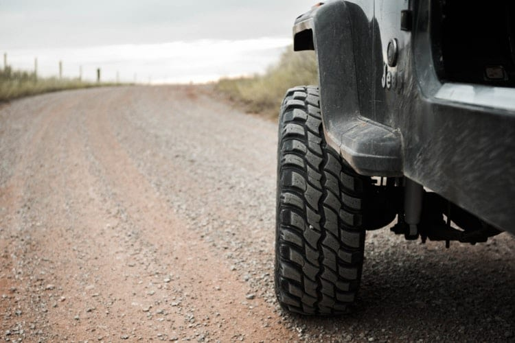 Jeep tires with thick tread