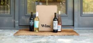 four wine bottles in wincs wine gifts set