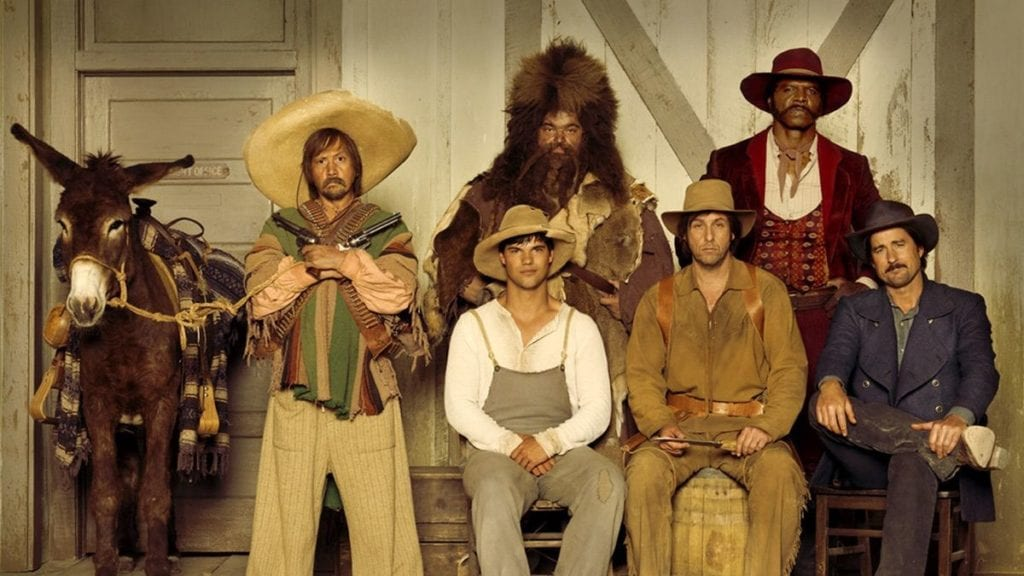 Six men in western dress with donkey worst rated movies