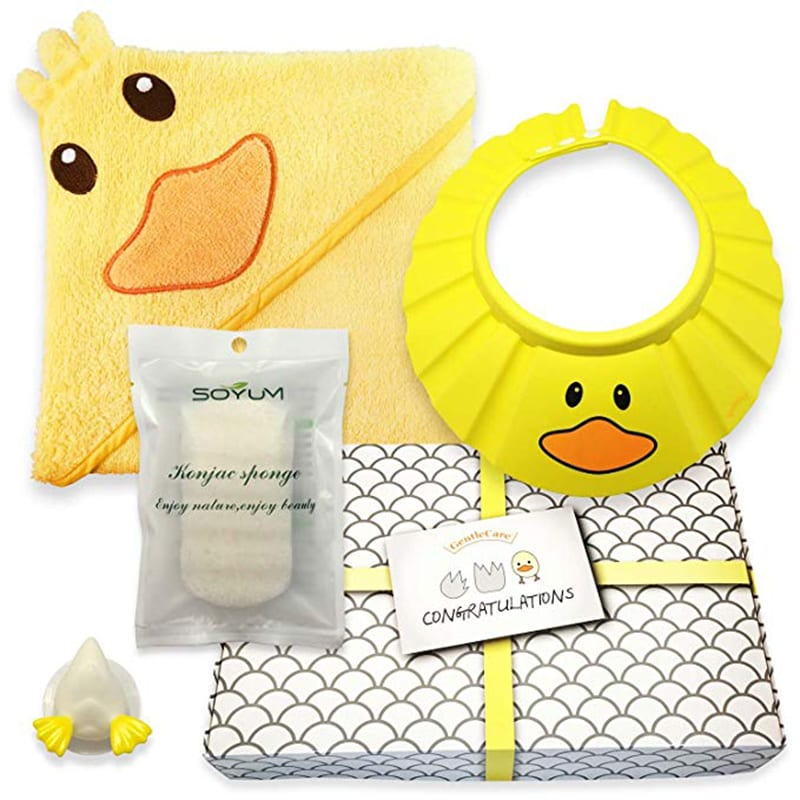 best baby shower gifts that moms will love: a cute bath time gift set