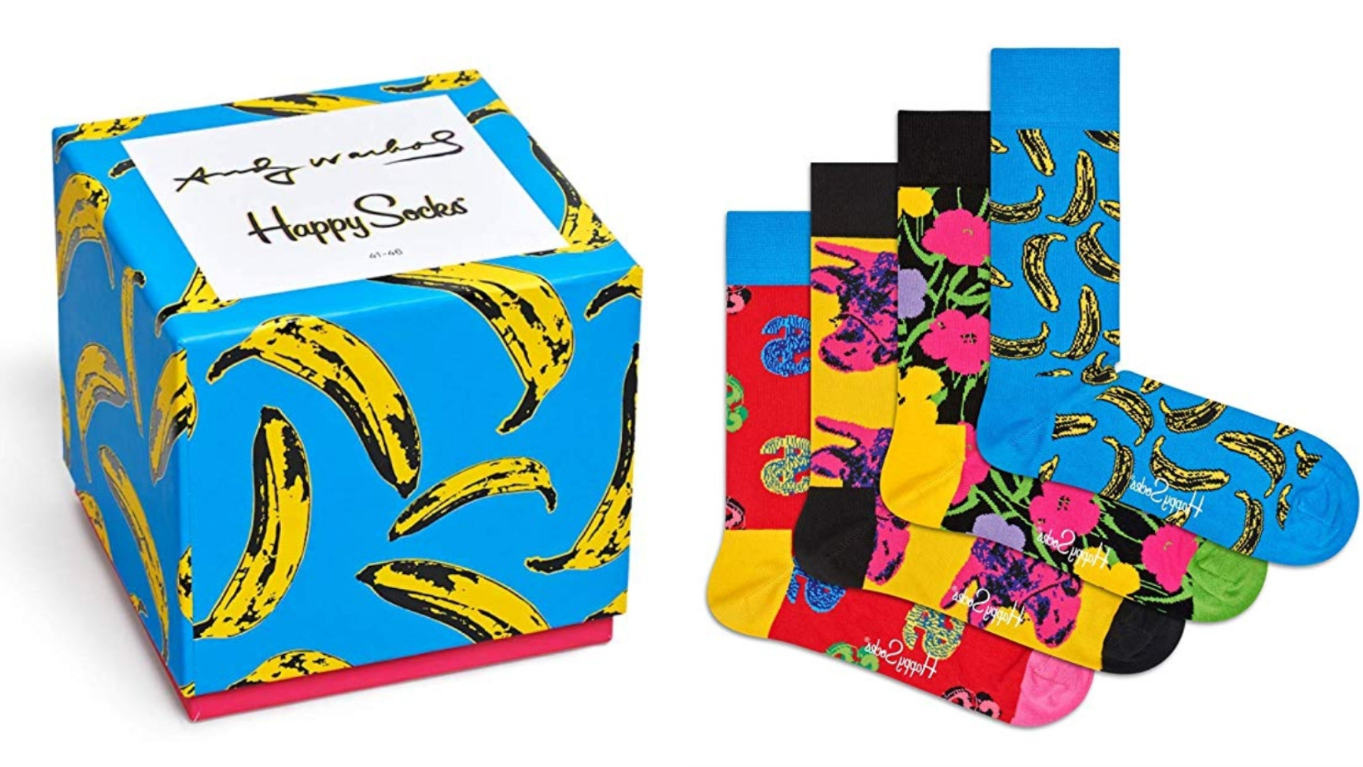 andy warhol happy socks gift set