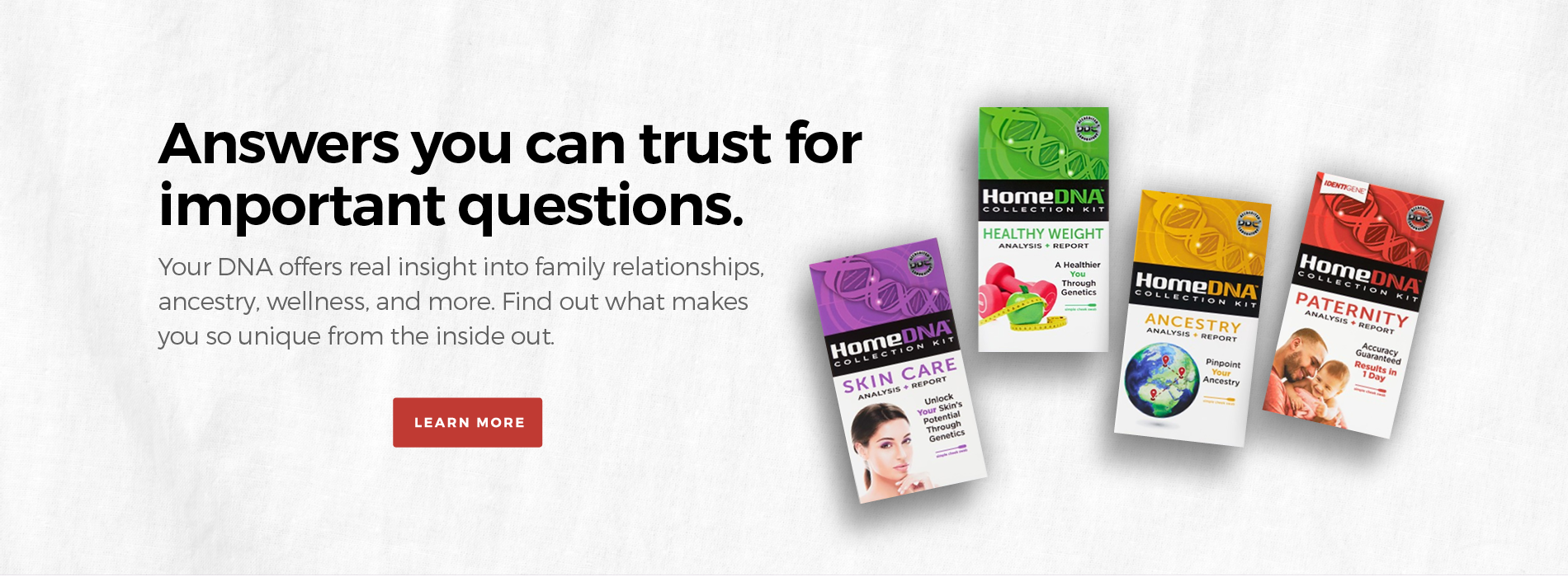 HomeDNA can tell you about your ancestry, health, and even your pets health and ancestry