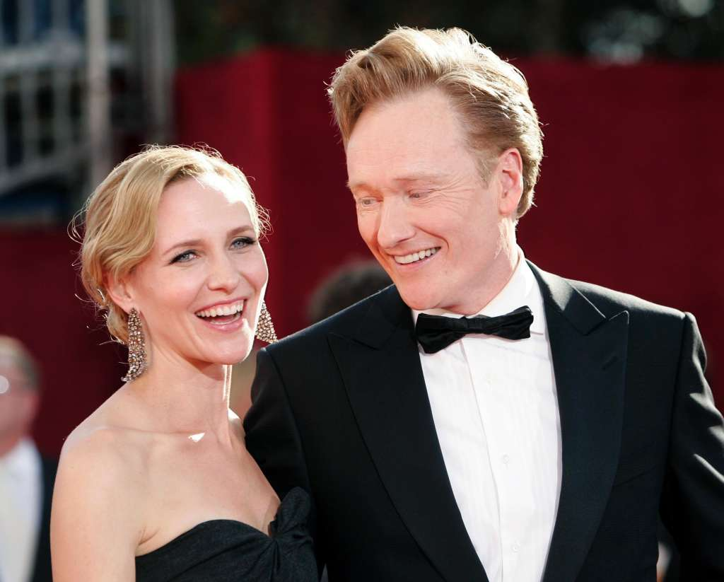 celebs who married their fans conan obrien liza powell