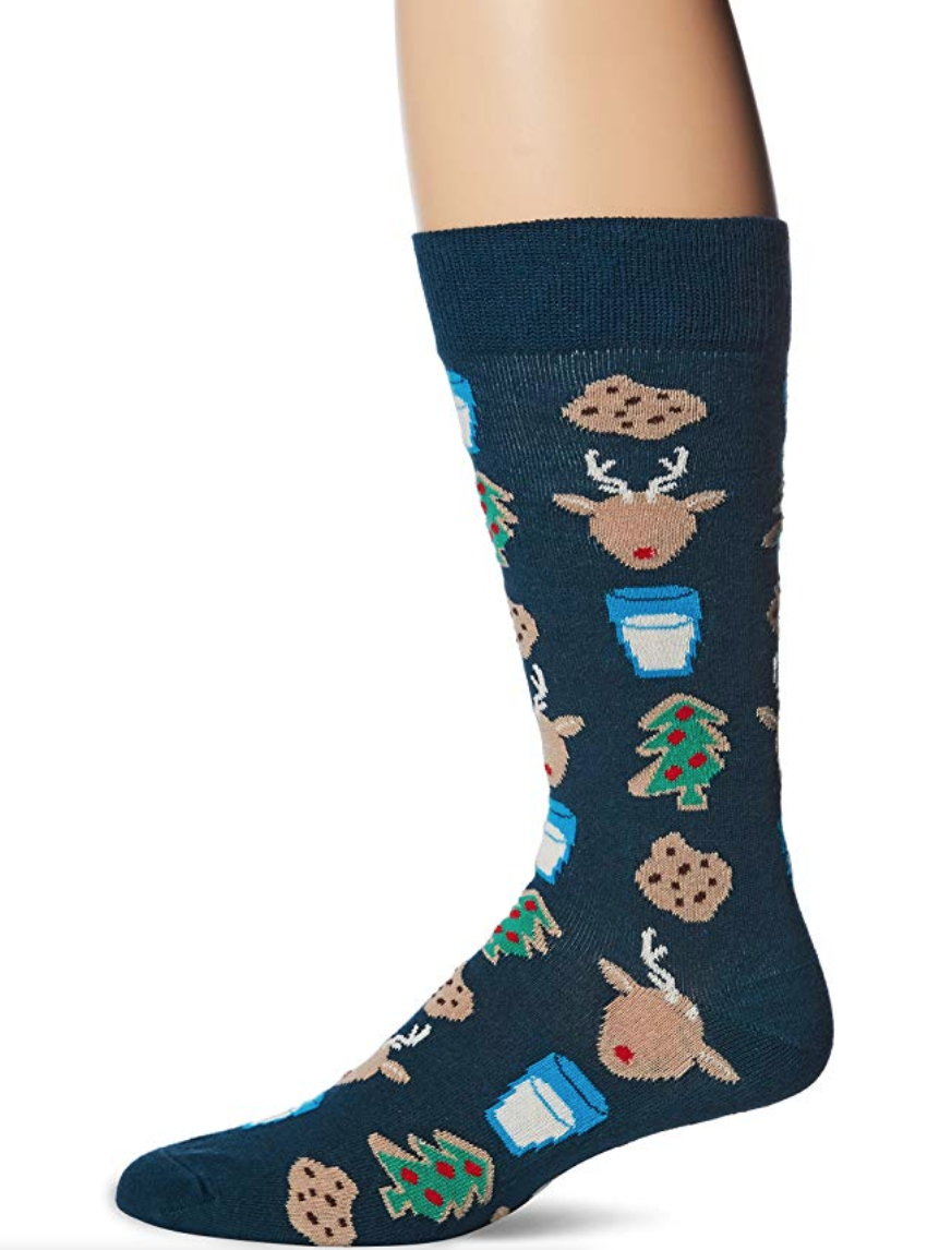 christmas eve design happy sock