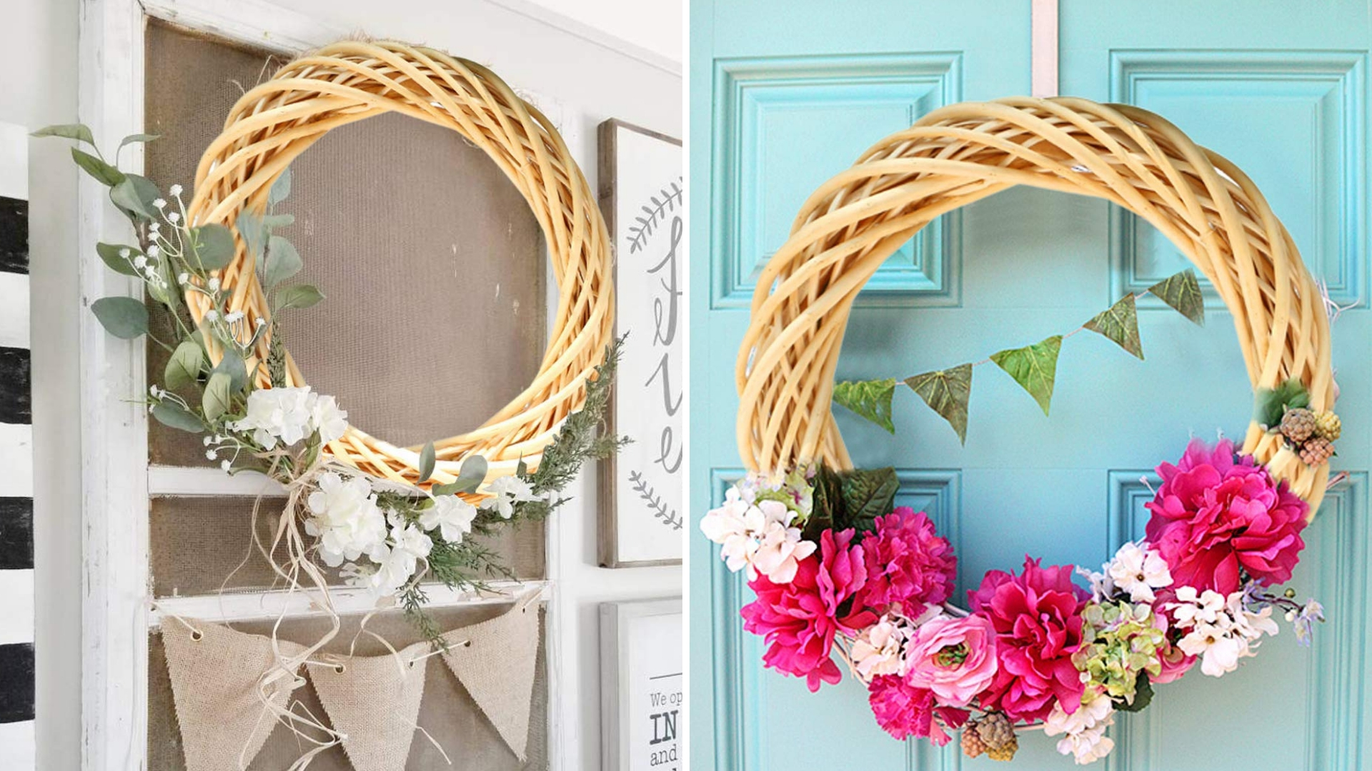 christmas wicker wreath : diy project