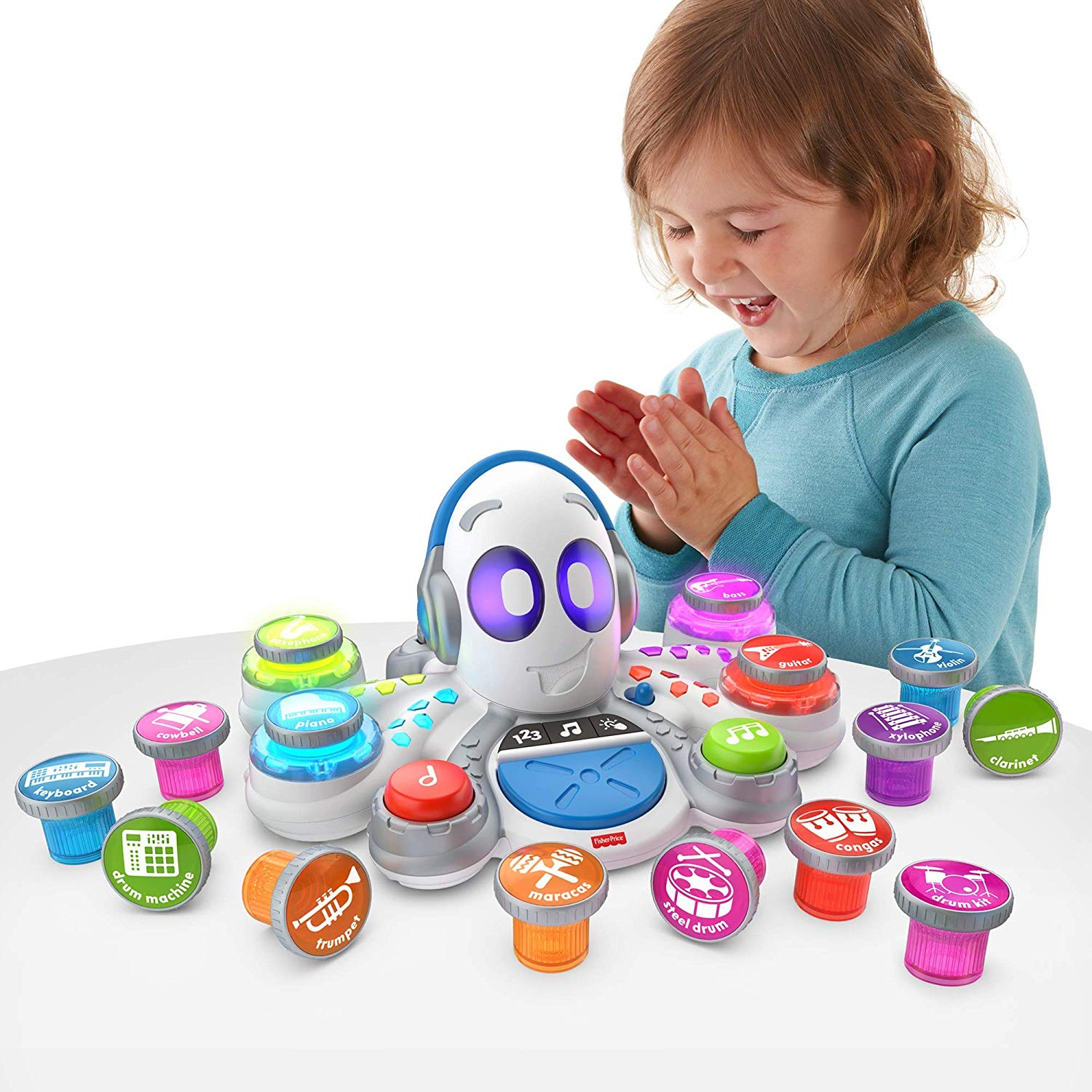 fisher-price releases brilliant holiday toys | this girl is playing with her rocktopus