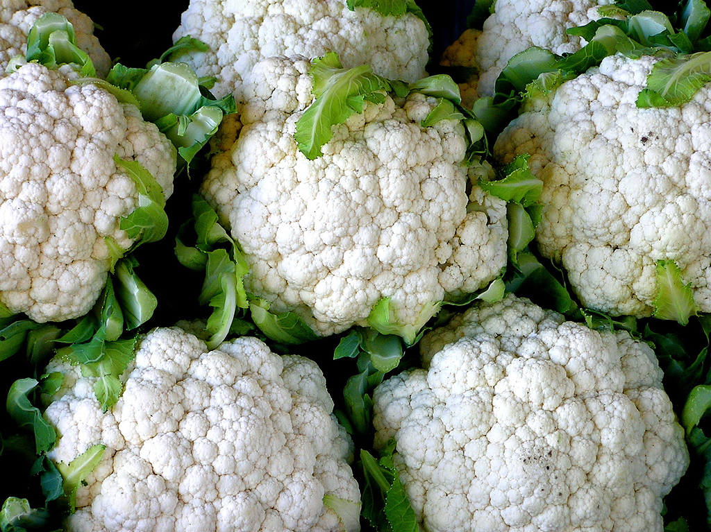 five cauliflower an almost zero calorie food
