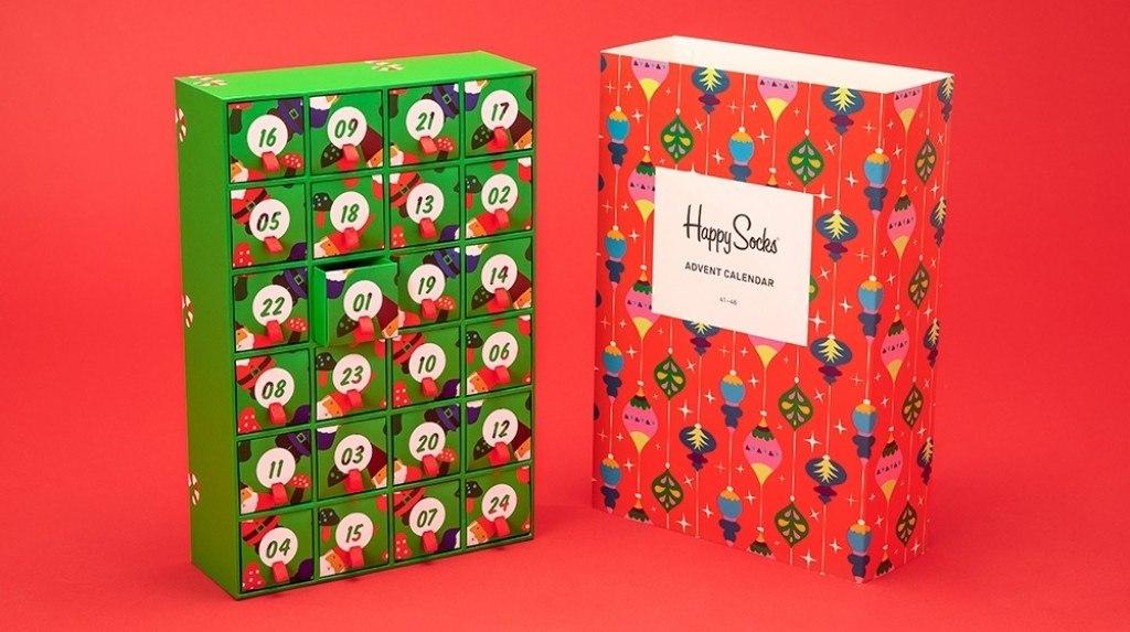 happy socks advent calendar for the holidays