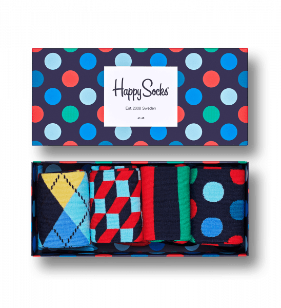 happy socks big dot gift set