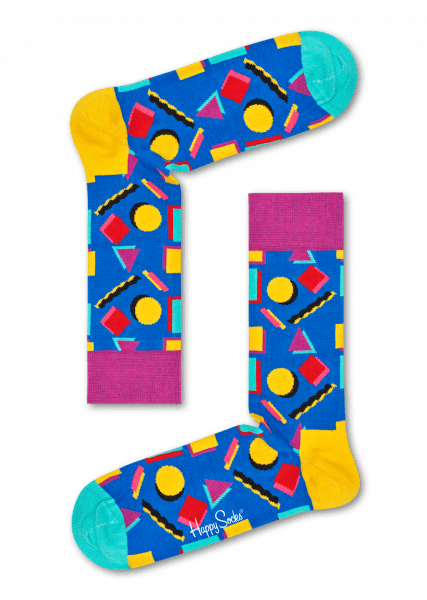 happy socks geometric shapes nineties socks