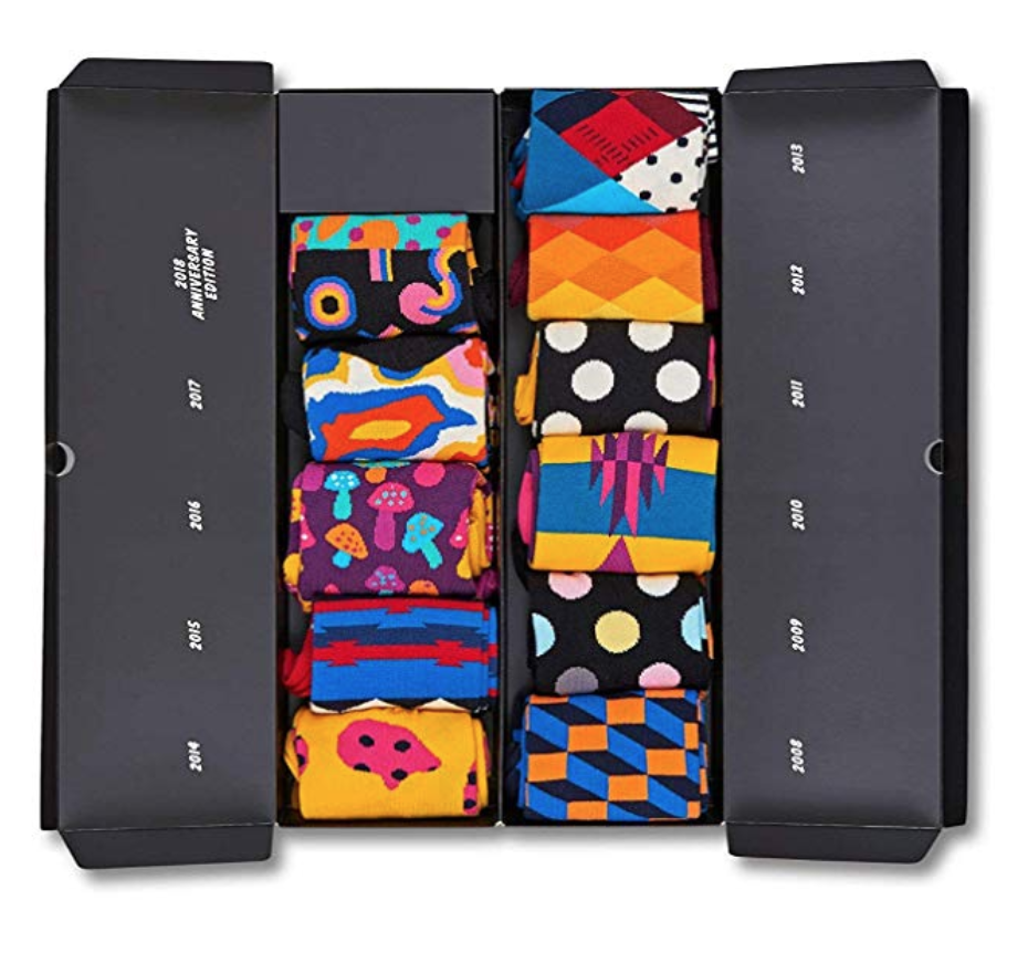 happy socks unisex 10 year anniversary gift box set