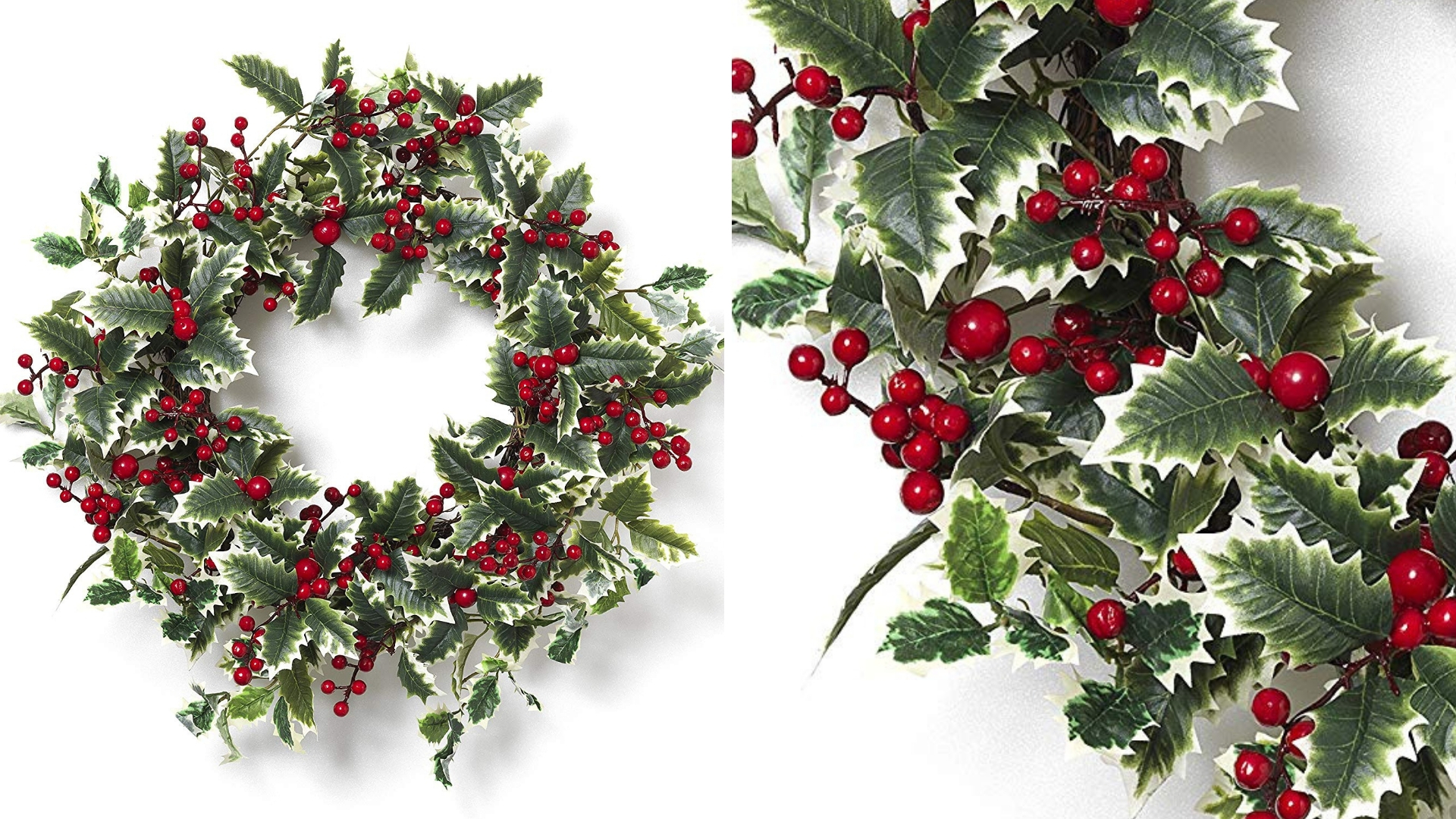 holly and berry christmas wreath