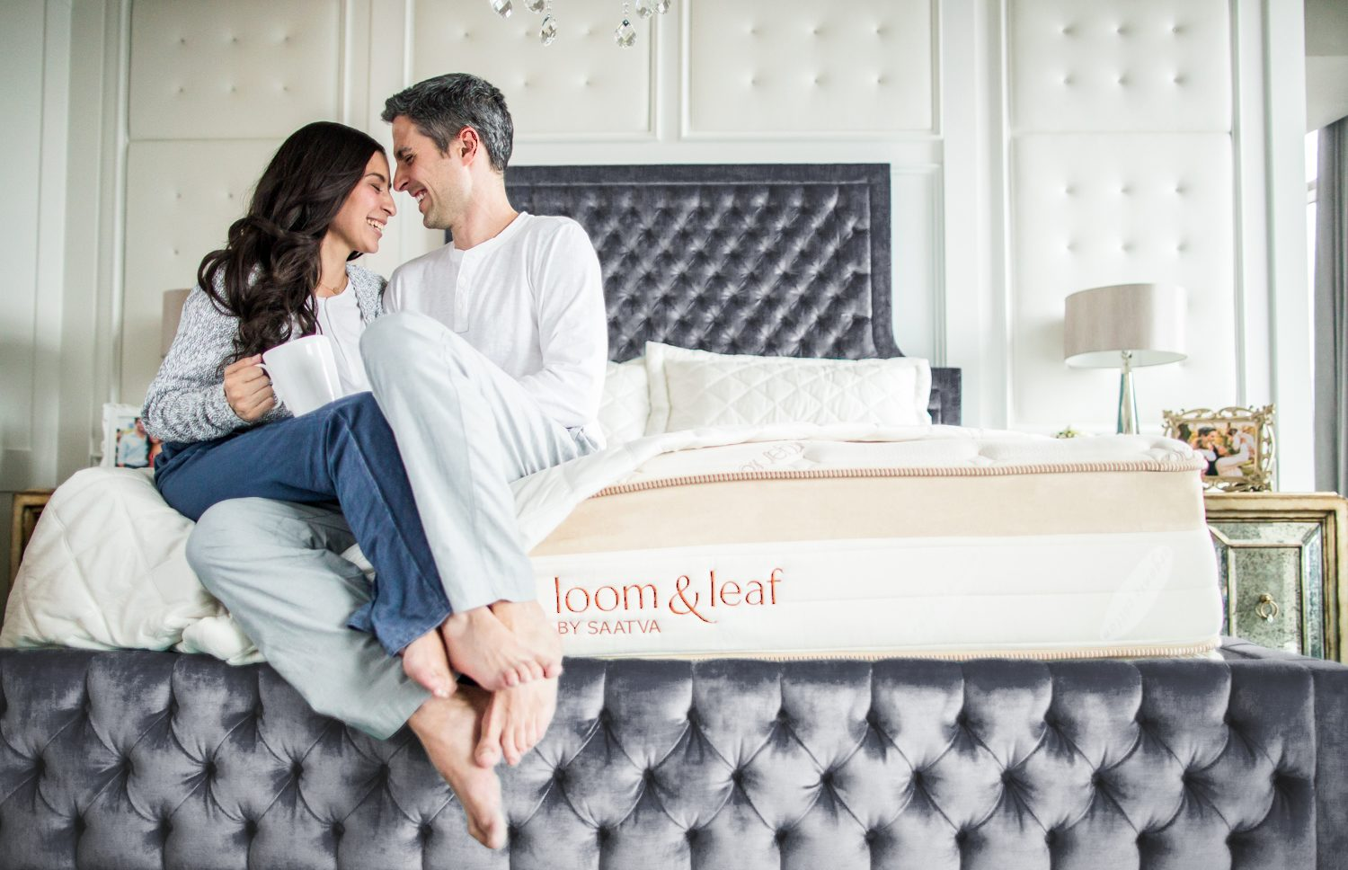 Couple on a Loom & Leaf mattress