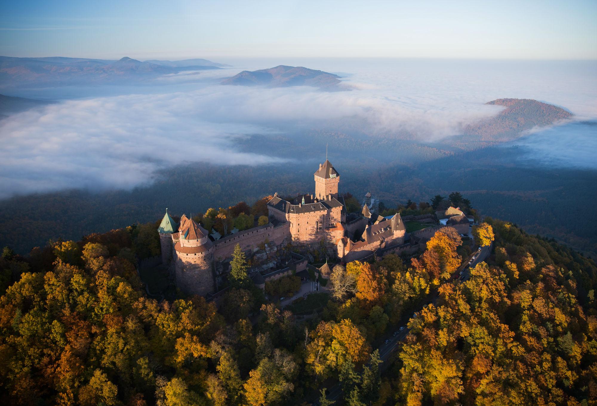 most impressive castles chateau haut koenigsbourg france