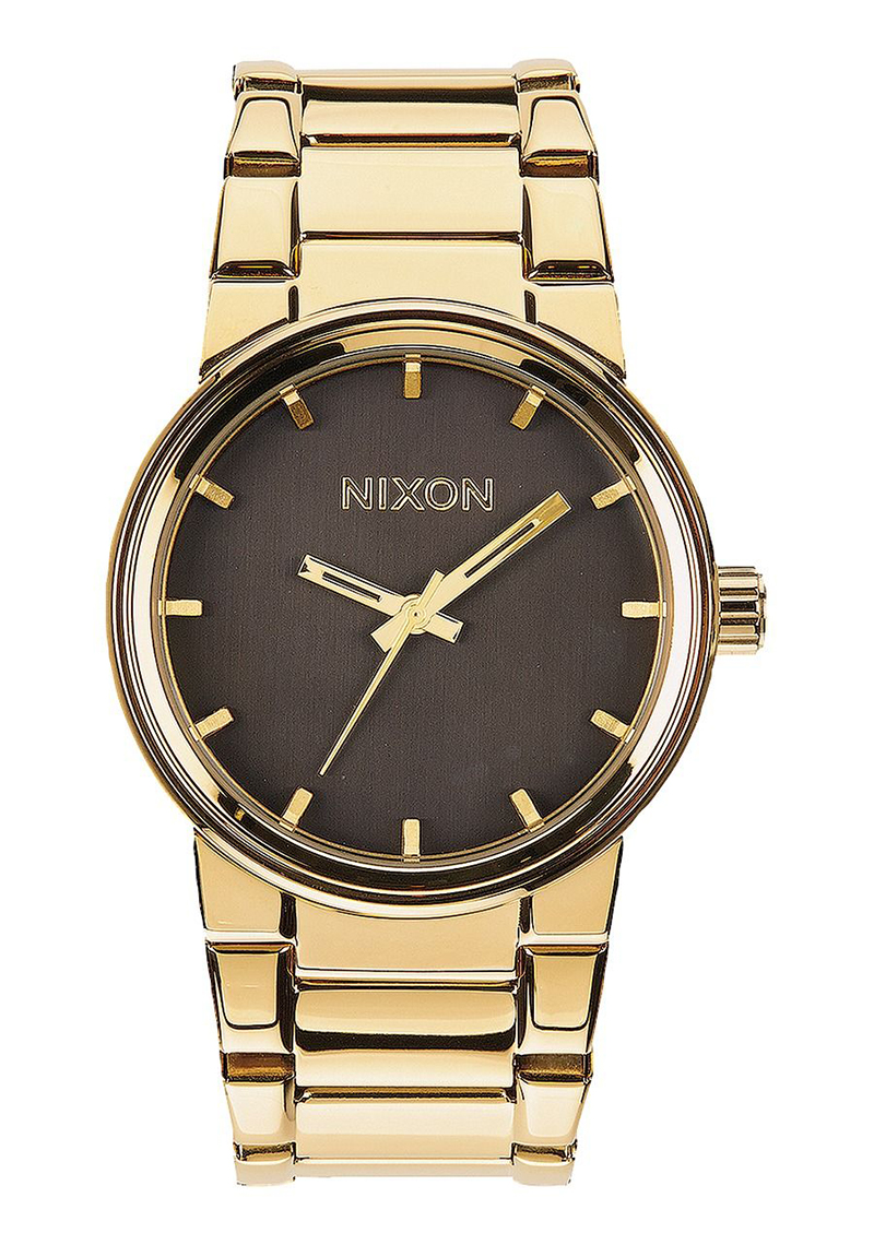 nixon cannon gold mens watch gift