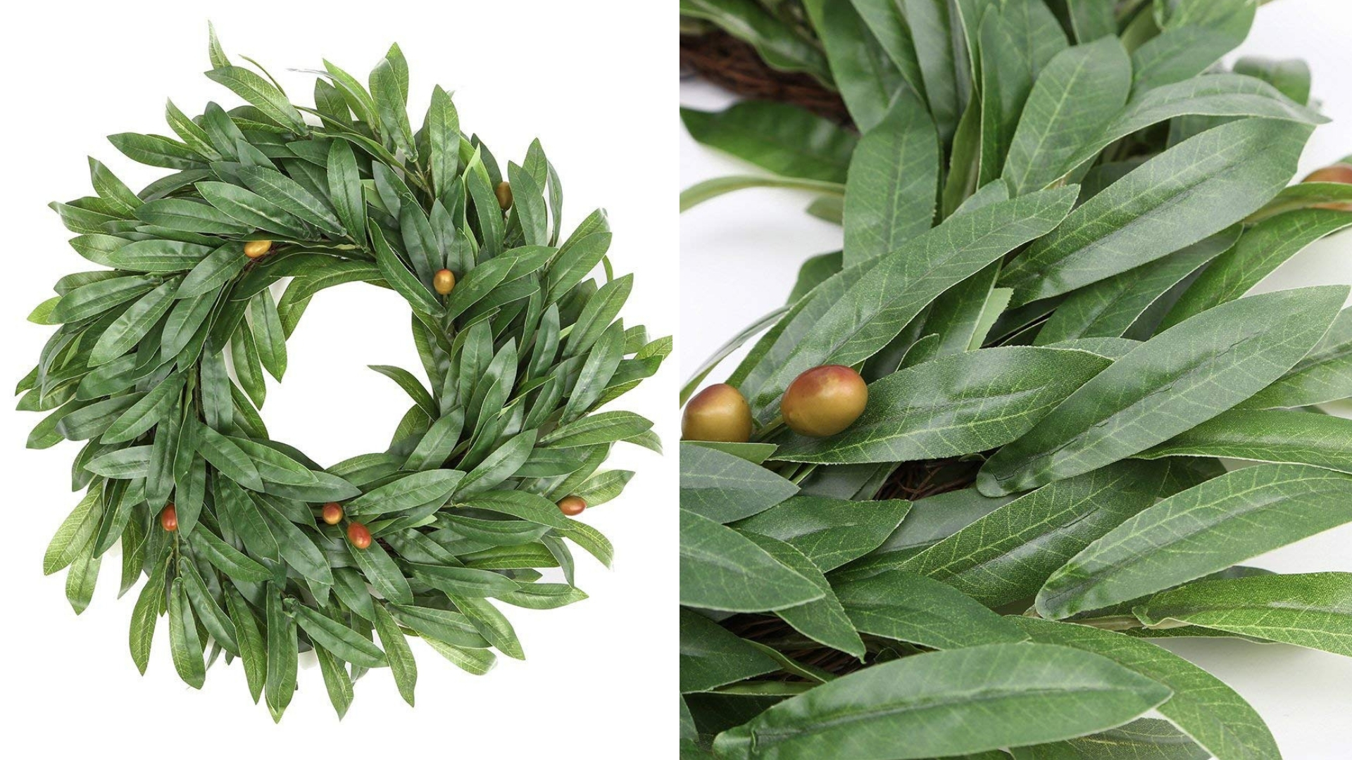 olive leaf stylish christmas wreath for the holidays