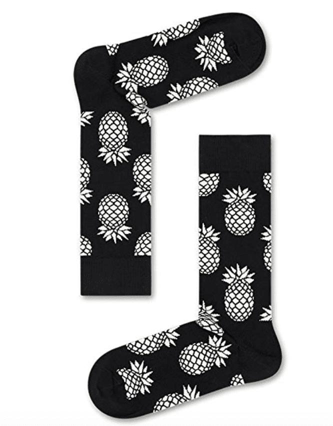 pineapple print happy socks